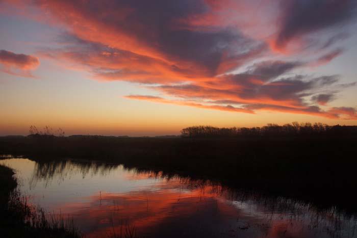 zonsopkomst duinrel Rommelpot Texel