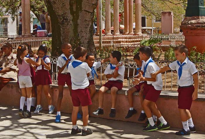 kinderen, spelen, Camajuani, Cuba