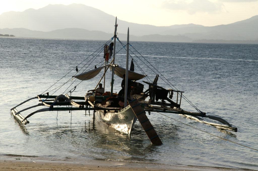 visserij, vissersboot, Panbaneiland, Filipijnen