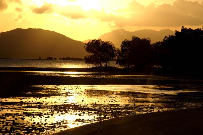 zonsondergag, Panbaneiland, palawan, Filipijnen