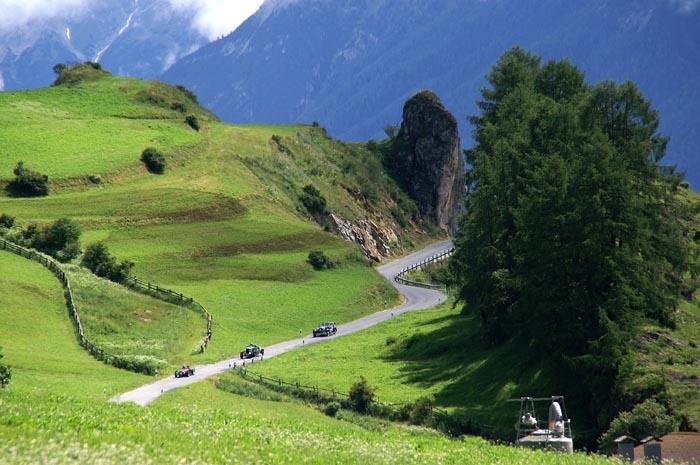 agrarisch, bergen, hooilandjes, Ardez, Munt, Graubünden, Zwitserland