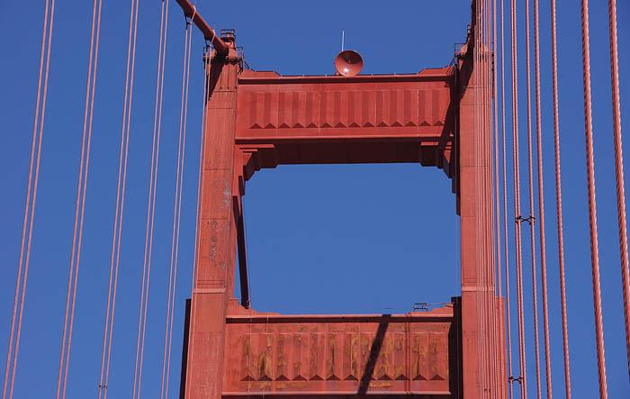 Golden Gate, brug, ophanging, kabels, San Francisco, USA