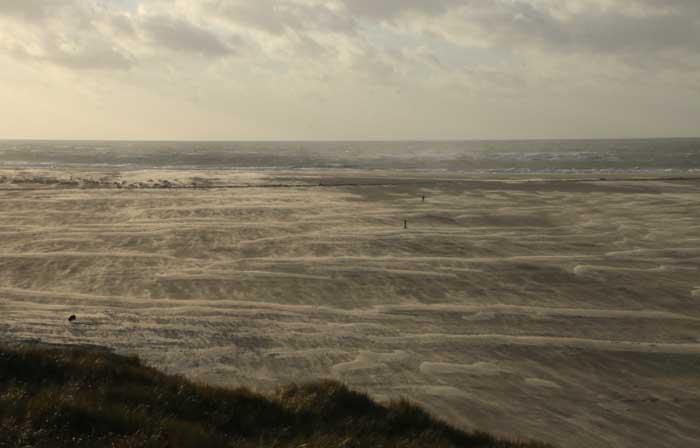 strand zand wind stuiven Texel
