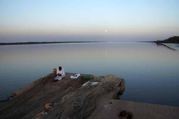 Gambia visserij rivier