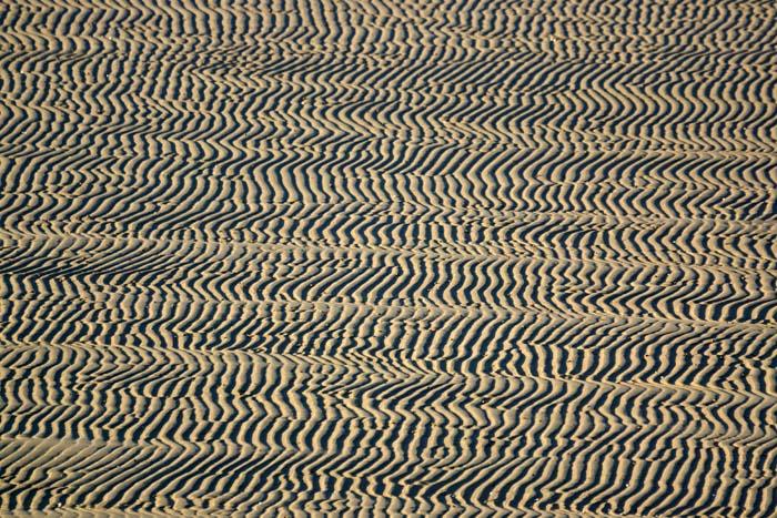 golfribbels, strand, de Hors, Texel, wadden