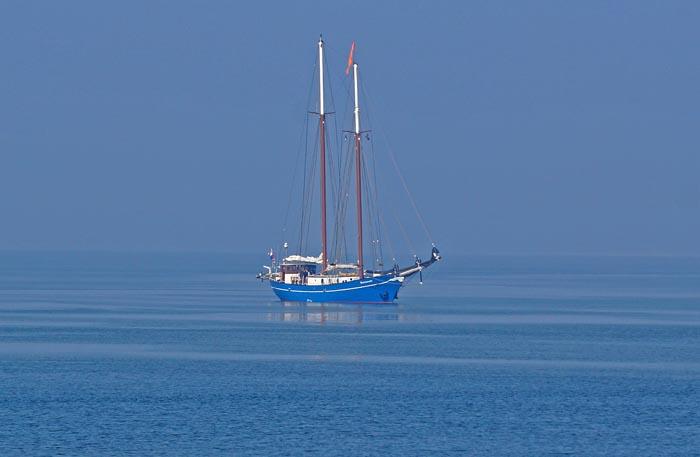 zeilboot, twee-master, Marsdiep, Texel, Waddenzee