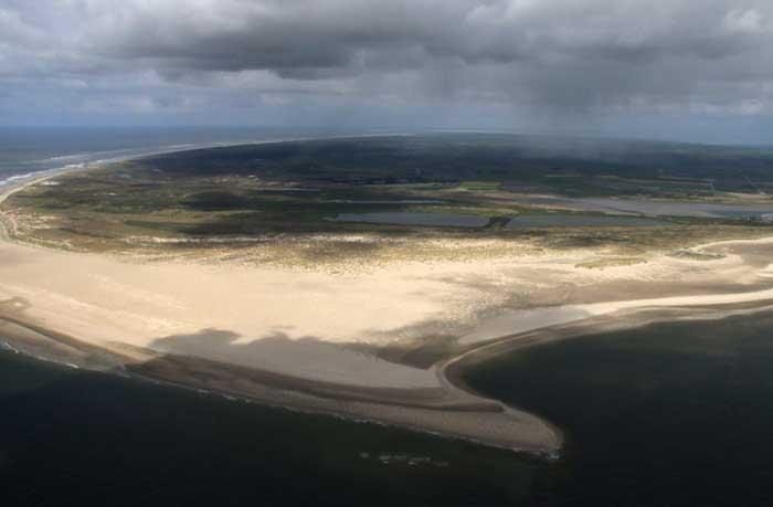 Texel Hors zuidpunt luchtfoto