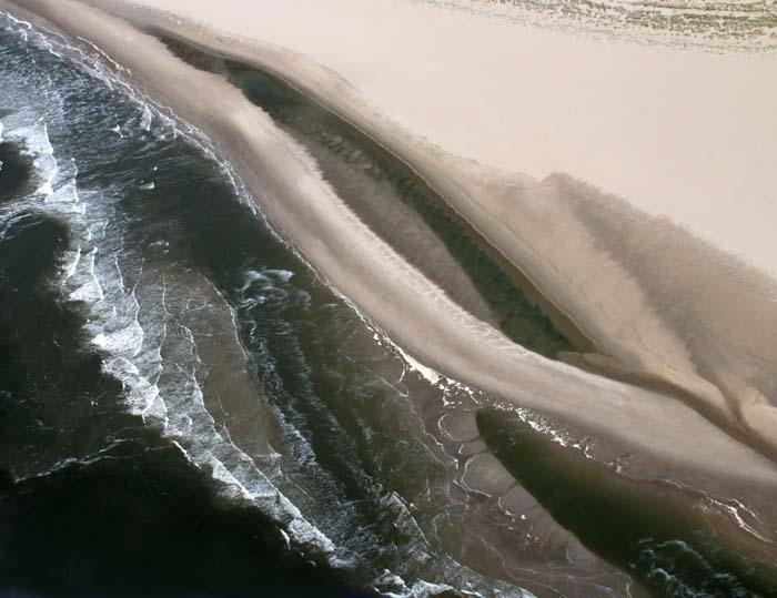 Texel Hors zandstrand zandbank luchtfoto