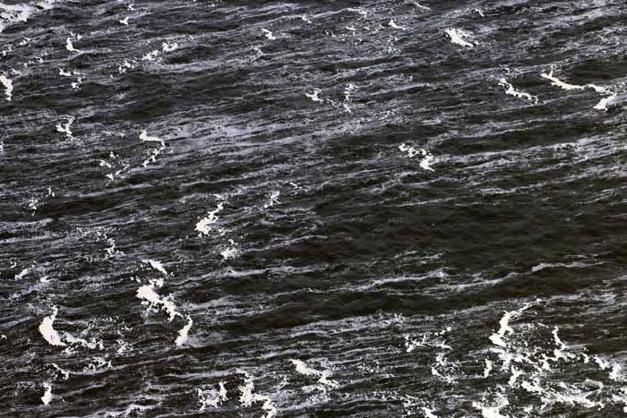 Noordzee golven Texel luchtfoto