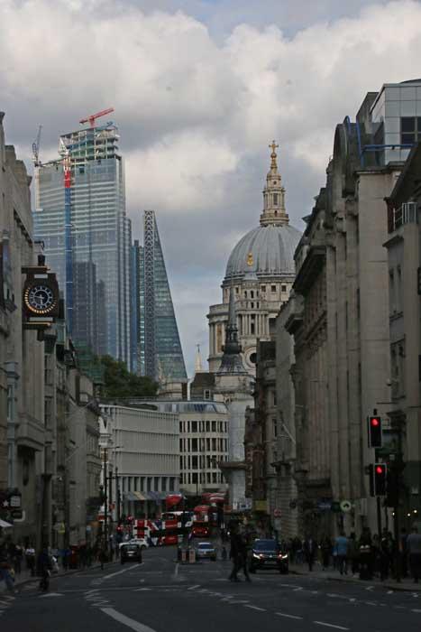 Londen St Pauls Cathedral en City Fleet Street