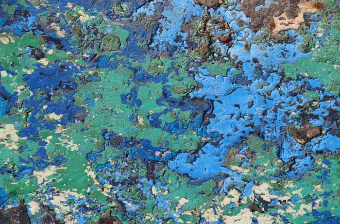 blauw groen abstract verf